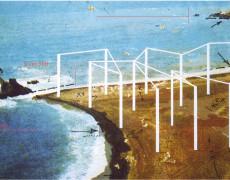 Approdo-1974 (Installazione e performance, foce fiume Sele Paestum)
