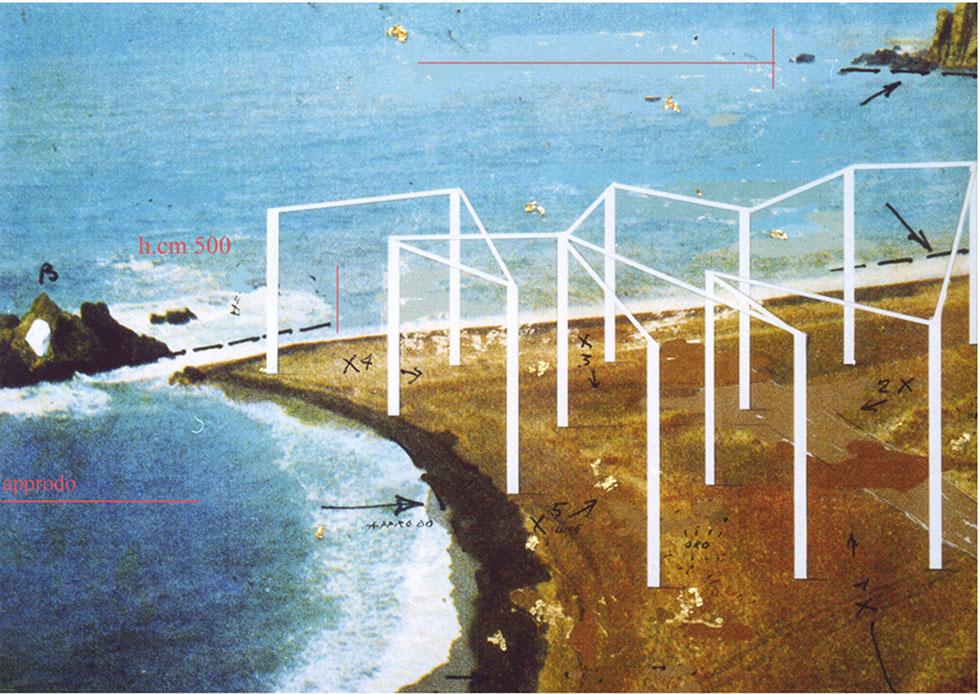 13-Approdo 1974, Installazione e performance, foce fiume Sele Paestum)
