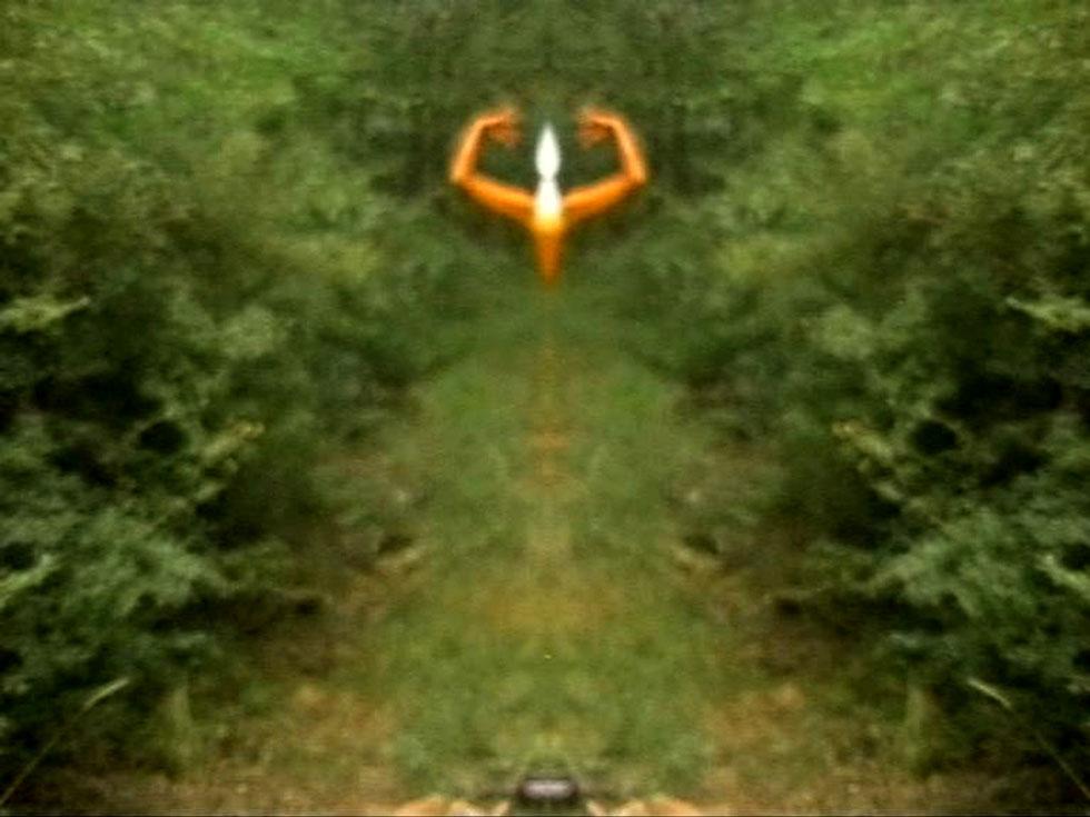 31-Vado a vedere come fa giorno nel bosco,( Videoperformance) 2007,Spoleto)